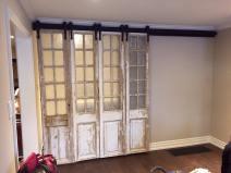 Custom Barn Door Install With Customers Own Antique Doors