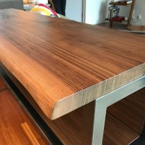 Live Edge Solid Walnut Top with Steel Base