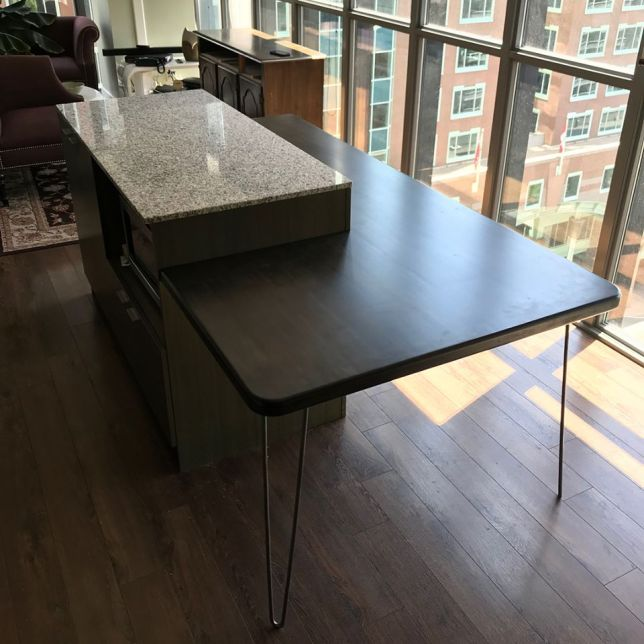 Custom Kitchen Island Dining Table Extension