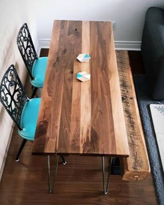 Walnut Table Reclaimed Bench